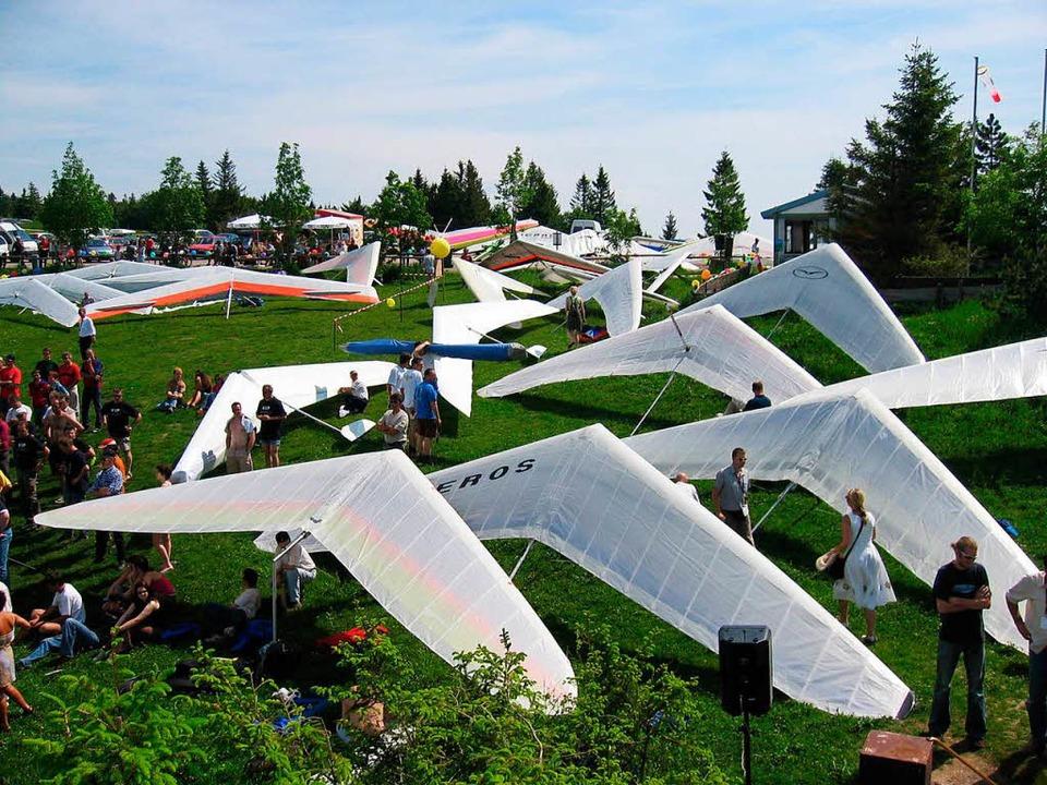 Bis zum kommenden Sonntag finden im El...sterschaften im Drachenfliegen statt.     Foto: DGFC