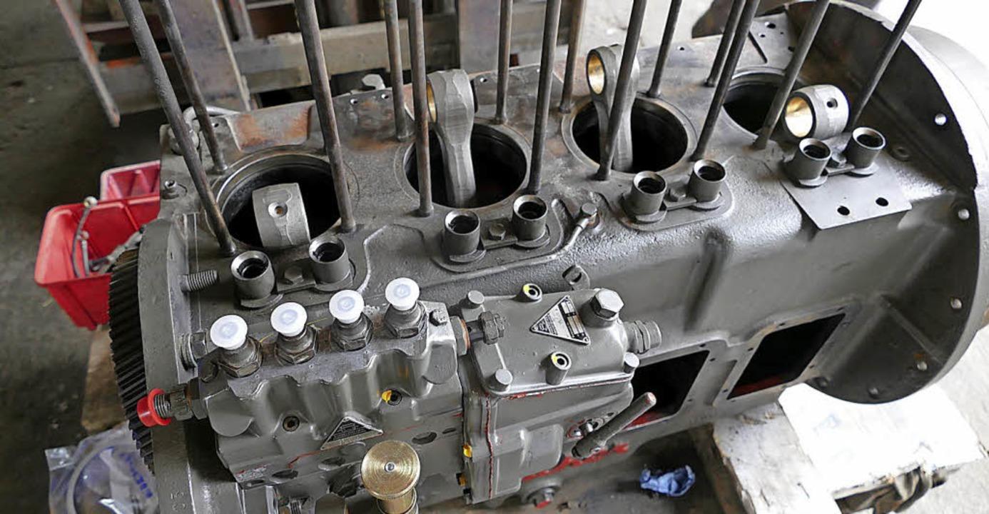 Den Beginn eines neuen Schrauberprojekts stellt dieser Motor dar.  | Foto: Tanja Bury