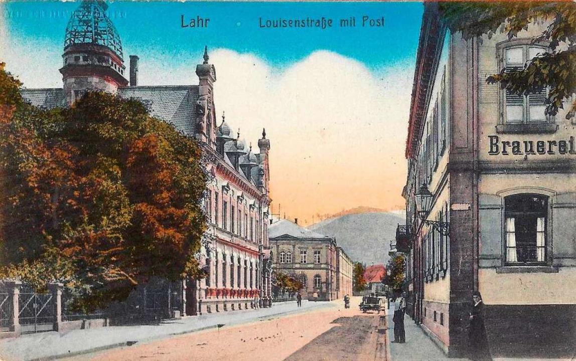 Kolorierte  Ansichtskarte aus dem Jahr 1907    Foto: Manfred Eble