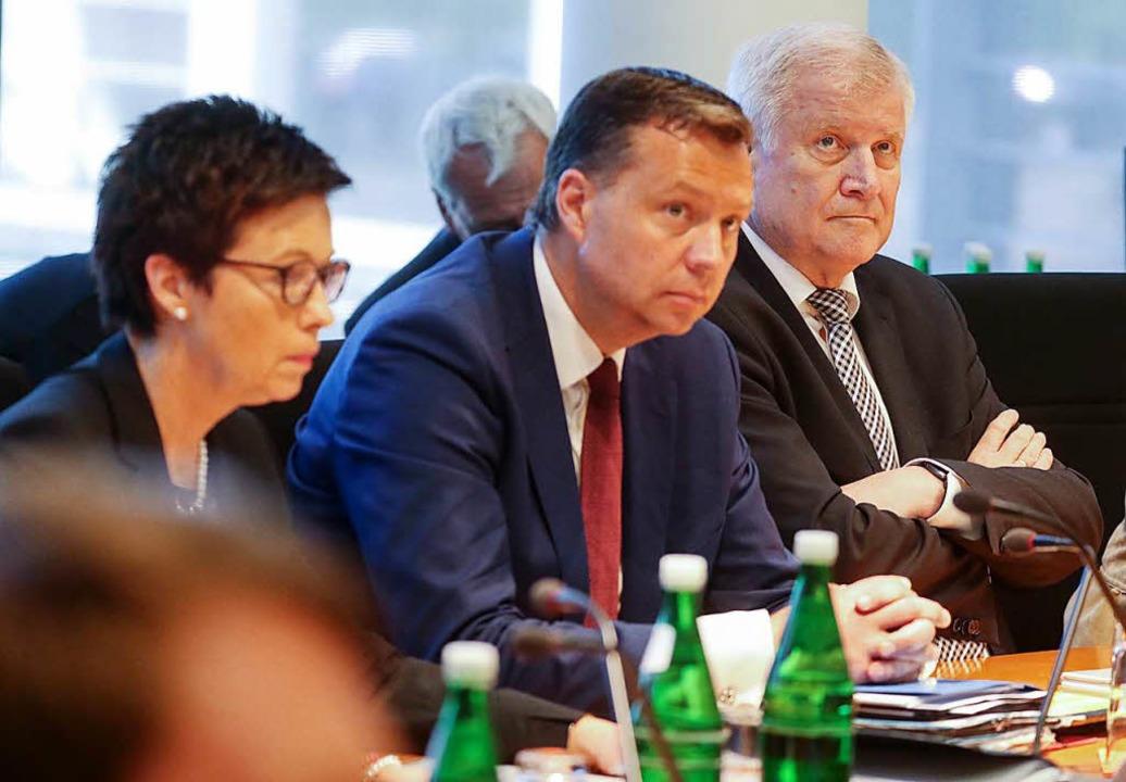 Bundesinnenminister Horst Seehofer (CS...s für Migration und Flüchtlinge (Bamf)    Foto: dpa