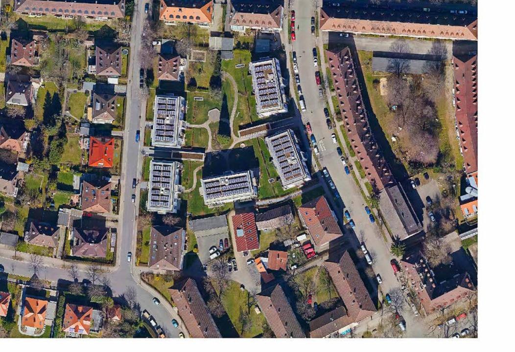 Die Familienheim-Wohnungen an der Quäk... Hausnummer 1 bis 9 abgerissen werden.  | Foto: Stadt Freiburg