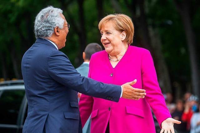 Merkel trifft in Portugal Präsident Rebelo und Regierungschef Costa