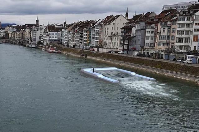 Basel bekommt wohl doch keine stehende Welle für Surfer auf dem Rhein