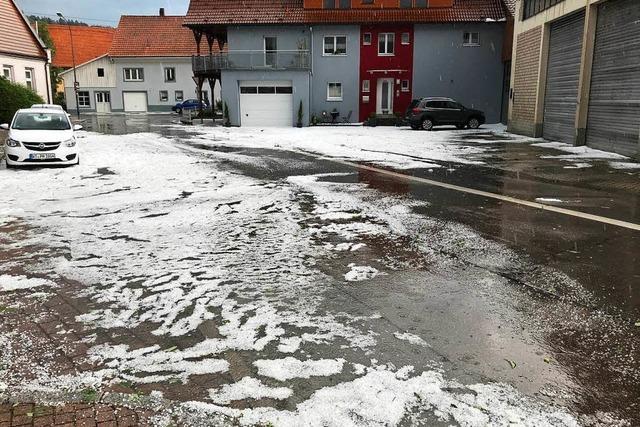 Heftiges Unwetter in Laufenburg hat die Rettungskräfte auf Trab gehalten