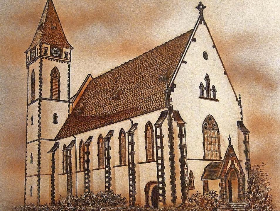 Illustration der katholischen Kirche &...hle-Federzeichnung von Martin Kaiser.   | Foto: Archiv Elmar Vogt