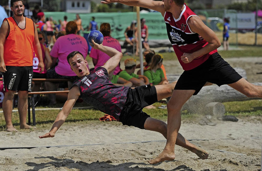Spektakel: Handball im Sand   | Foto: Pressebüro Schaller