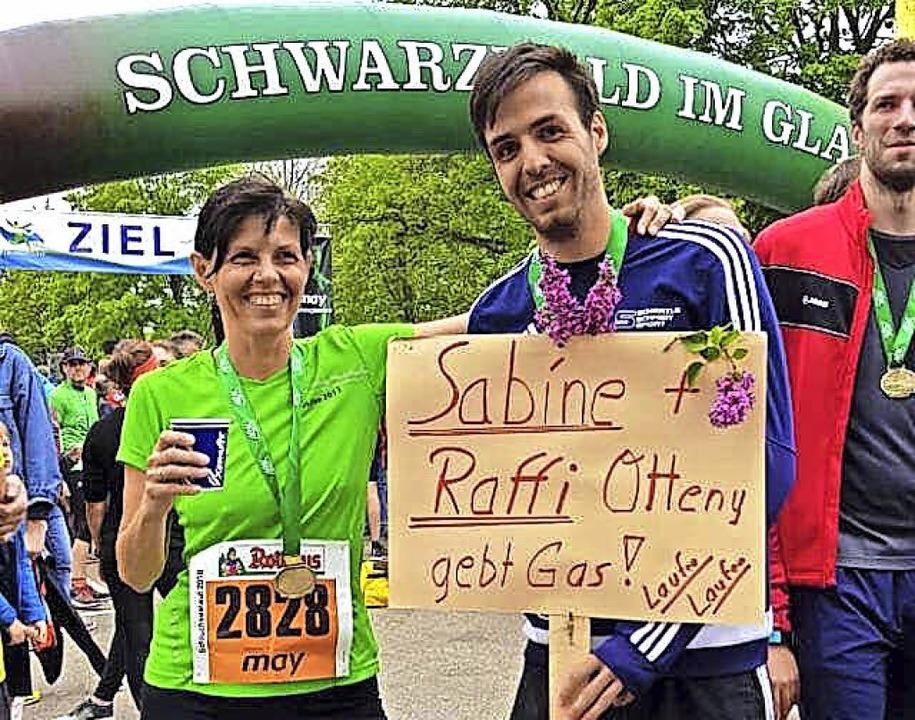 Sabine und Raphael Otteny überzeugten beim Schluchseelauf.   | Foto: Privat