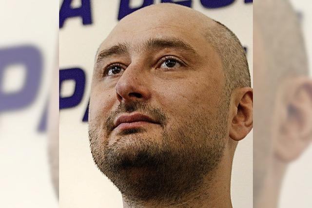 Babtschenko verteidigt Tod, der keiner war