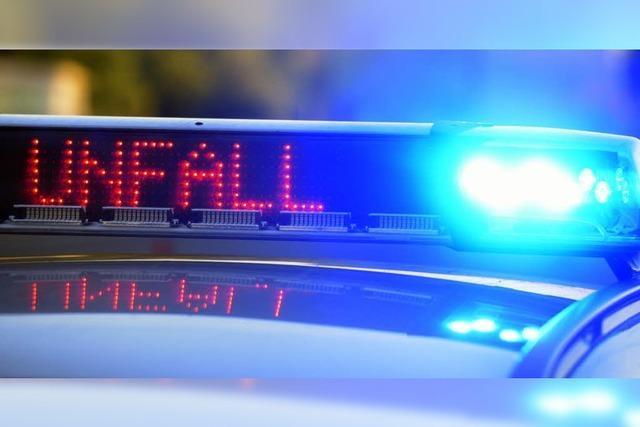 Unfall mit einer verletzten Person in Horben
