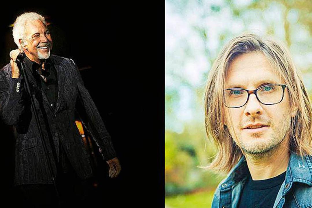 Stars beim ZMF: Tom Jones und Steven Wilson (von links)    Foto: Erick Bustamante Belair / Lasse Hoile