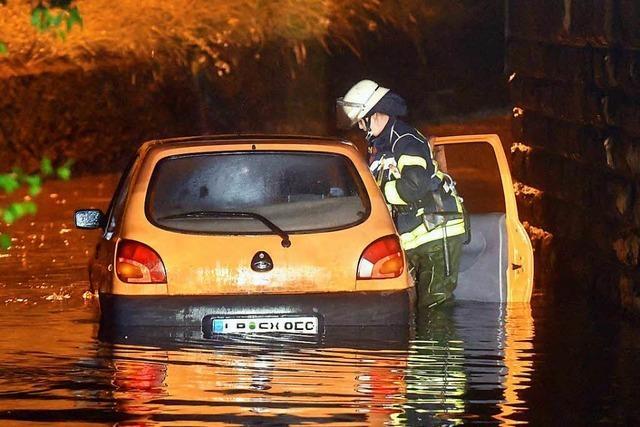 Mehr als 40 Einsätze wegen Unwetter in Lahr