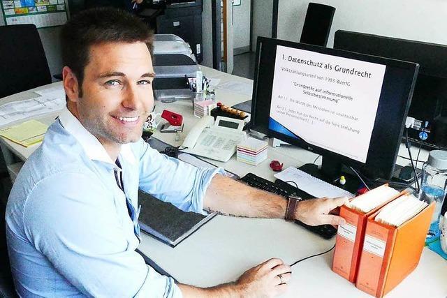Patrick Seemann wacht über den Datenschutz in Weil am Rhein