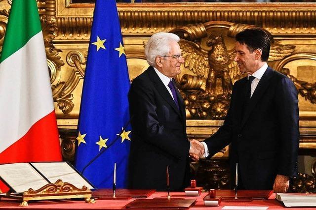 Die neue Regierung in Italien steht sofort vor einer Belastungsprobe