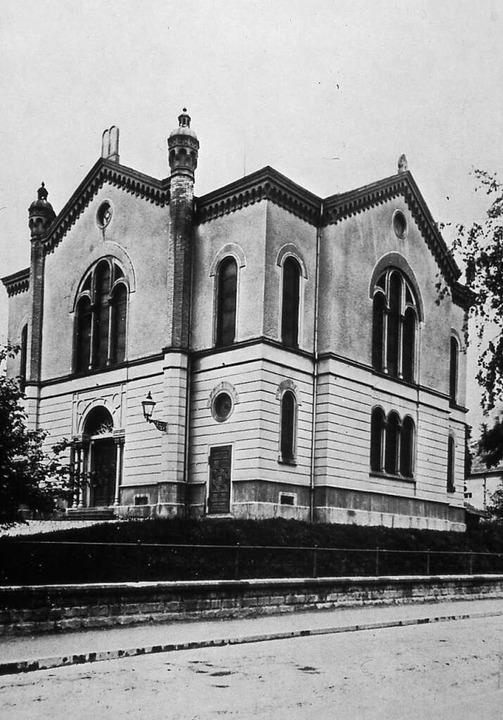 Aufnahme der Synagoge vor 1925  | Foto: Augustinermuseum