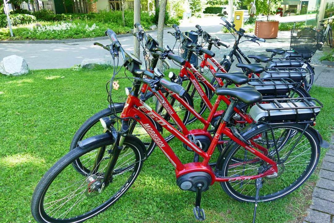 Nicht nur beim Verleih im Kurpark werden E-Bikes immer beliebter.   | Foto: franziska Riepl
