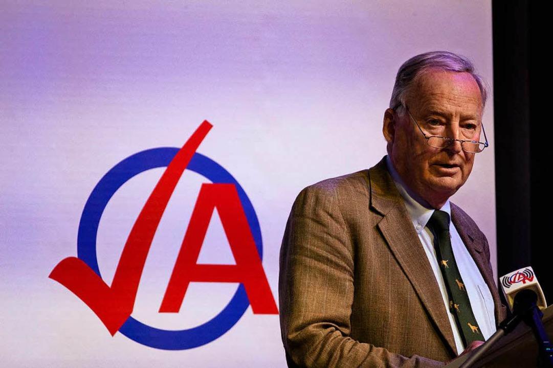 Alexander Gauland sprach auf einer Veranstaltung der AfD-Jugendorganisation.    Foto: dpa