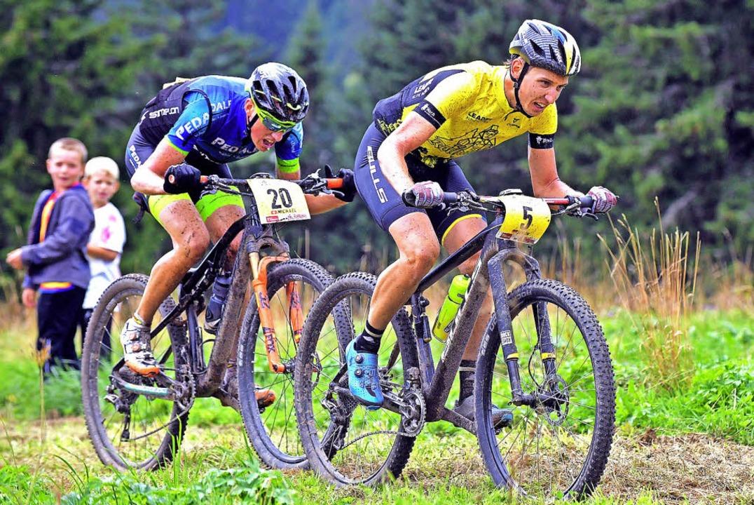 Simon Stiebjahn (rechts) verfügt &#821...chend Erfahrung in MTB-Etappenrennen.     Foto: Wolfgang Scheu