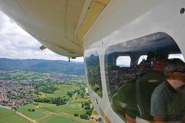 Fraglos die schönste Art zu fliegen: Im Zeppelin über die Ortenau