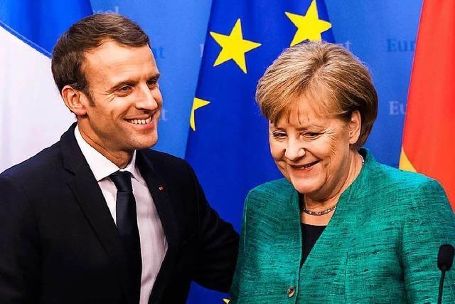Merkel antwortet nebulös auf Macrons Vorschläge