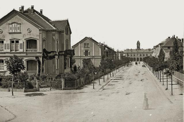 Als zwischen Rotteckring und Hauptbahnhof noch großflächig Reben standen