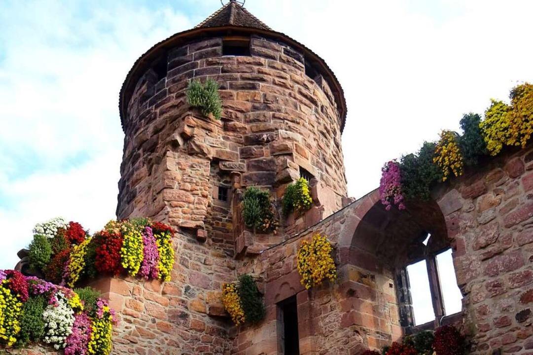 Der geschmückte Storchenturm  | Foto: Stadt Lahr