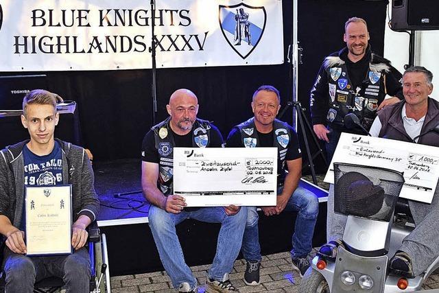 Blaue Ritter zeigen sich in Todtnauberg großzügig