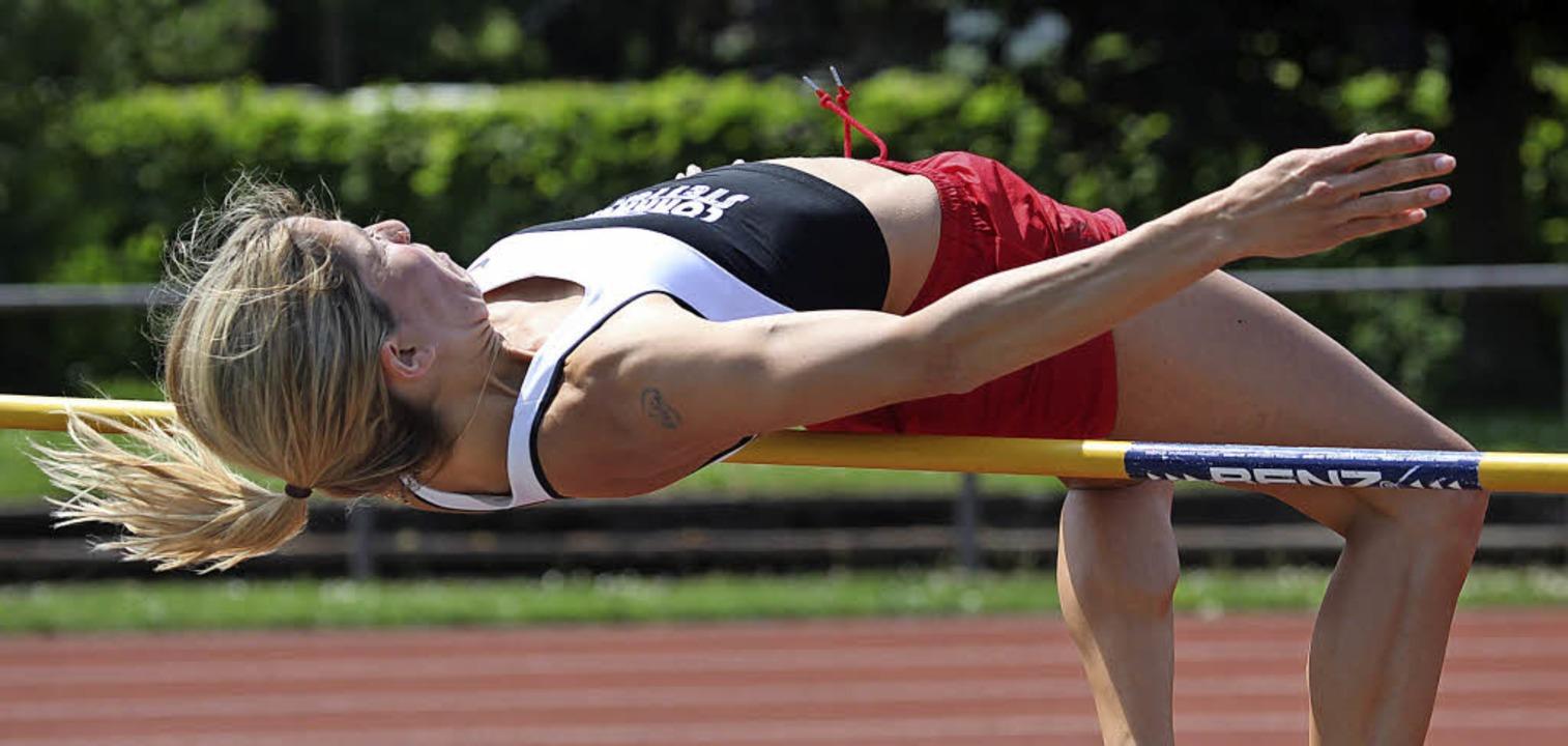 <BZ-FotoAnlauf>Leichtathletik:</BZ-Fot... viermal Gold, darunter im Hochsprung.  | Foto: Uwe Rogowski