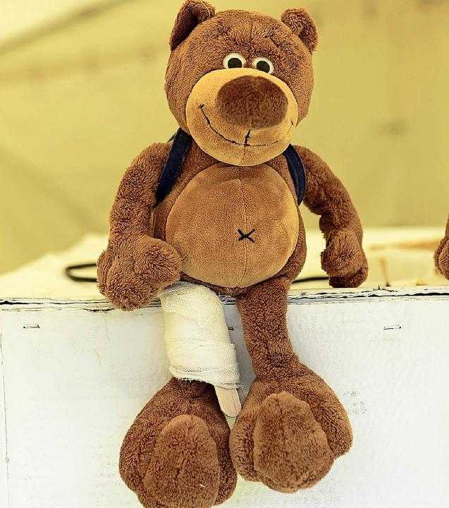 Teddy – gut verarztet.  | Foto: Ingo Schneider