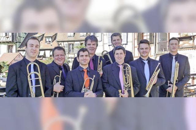 Das Blechbläser-Ensemble L'Octuor de Cuivres d'Alsace konzertiert in Freiburg