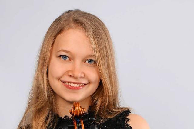 Die Violinistin Amelie Gehweiler kehrt für ein Konzert in ihre Heimat Weil am Rhein zurück