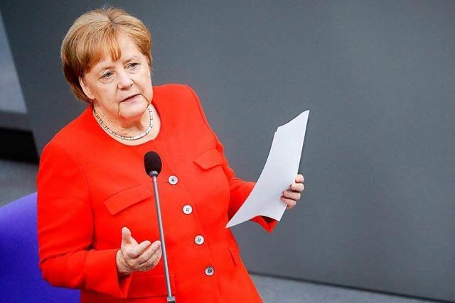 Merkel verteidigt bei Regierungsbefragung ihren Flüchtlingskurs