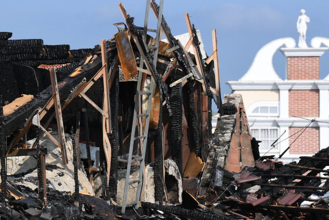 Die Attraktion nach dem Brand.  | Foto: dpa