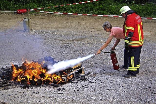 Brandlöschung will geübt sein