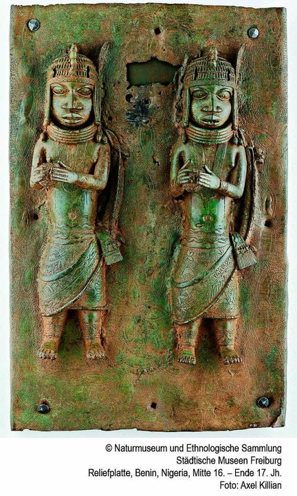 Reliefplatte aus Benin, entstanden im ...mmlung der Städtischen Museen Freiburg    Foto: Axel Killian