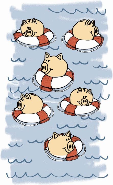 Rettungsringe für die Sparschweine  | Foto: Adobe.com