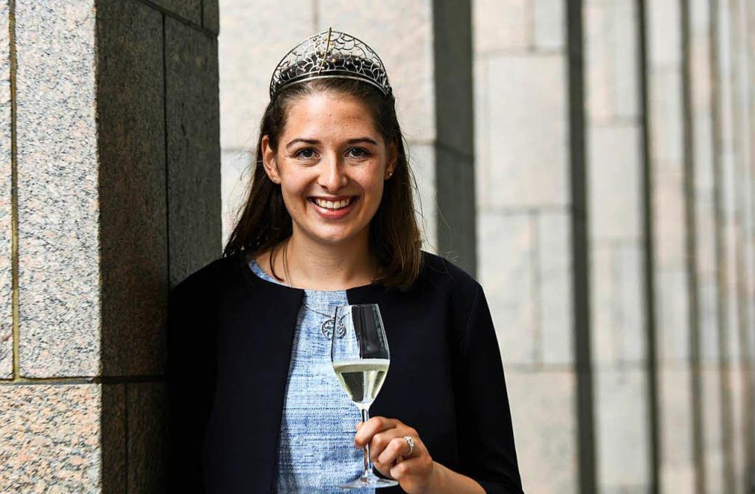 Miriam Kaltenbach aus Gundelfingen nac...Wein im In-und Ausland repräsentieren.  | Foto: dpa
