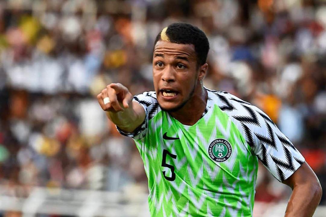 William Ekong, Verteidiger der nigerianischen Nationalmannschaft  | Foto: AFP