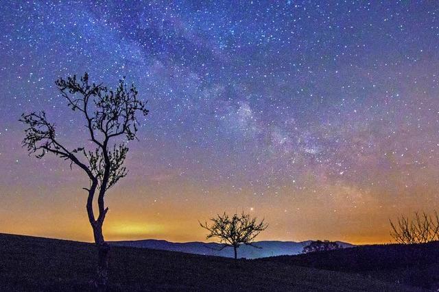 Sternenhimmel über dem Geisberg