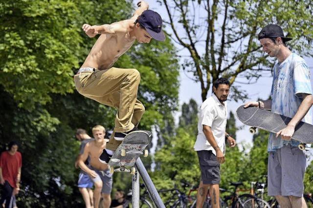 Beim Skate-Contest war auch ein Vater-Sohn-Team dabei