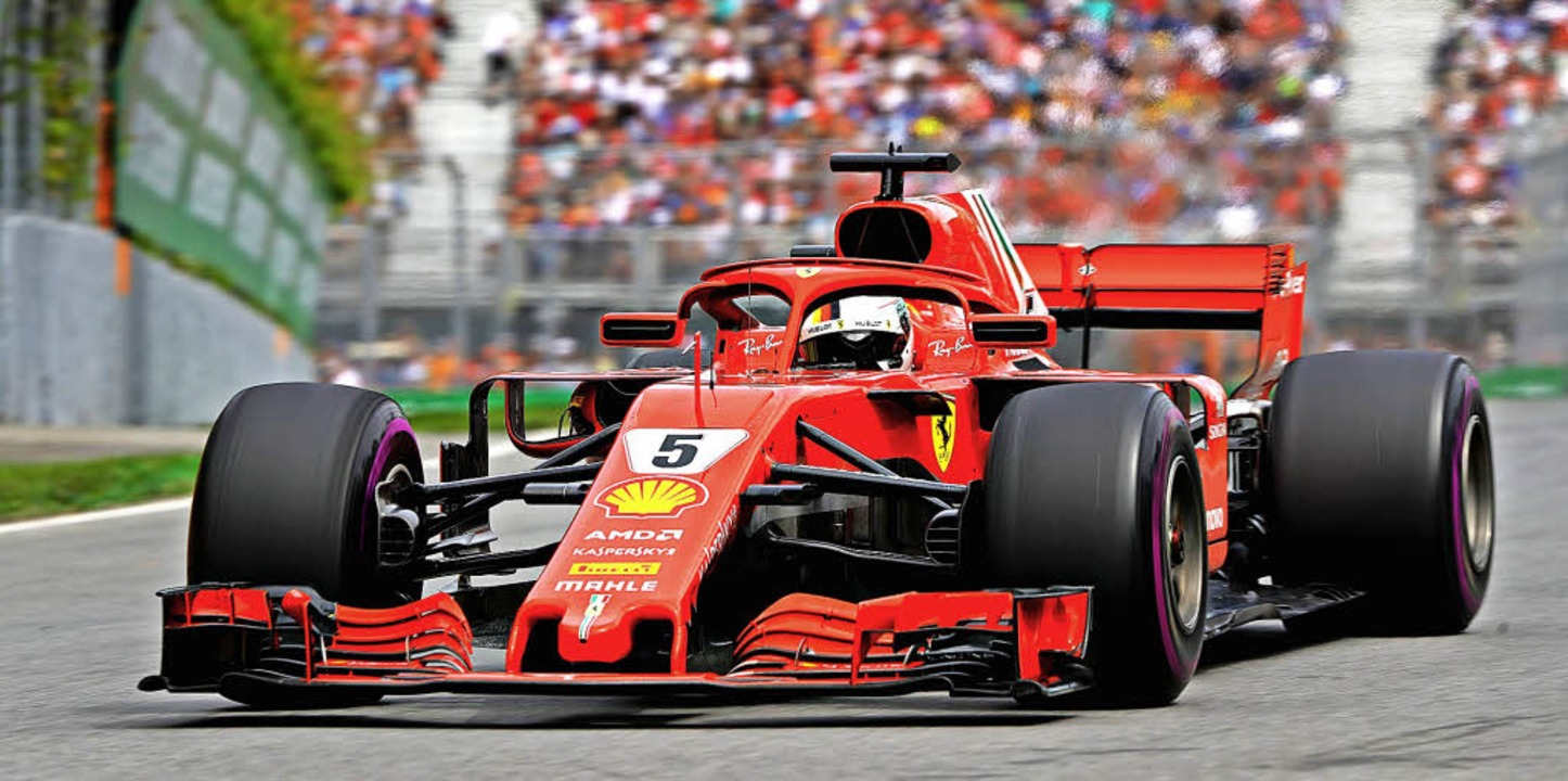 Sebastian Vettel war in Kanada in seinem roten Flitzer nicht zu besiegen.      Foto: AFP