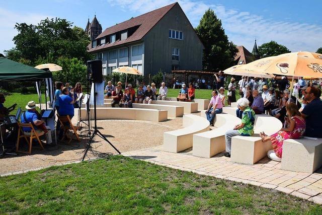 Der ehemalige Klostergarten auf dem Münsterberg ist wieder offen