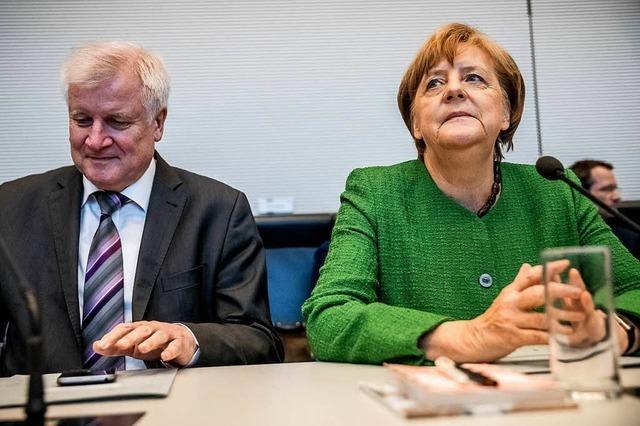 Streit zwischen Merkel und Seehofer