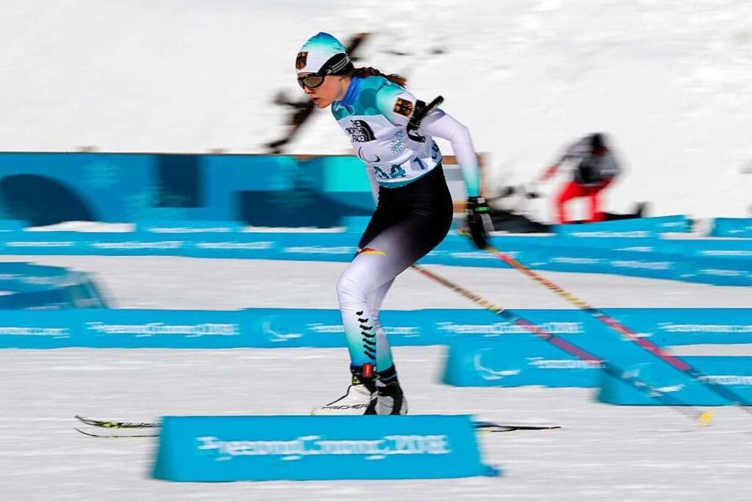 Vivian Hösch bei den Paralympischen Winterspielen in Pyeongchang im März 2018   | Foto: dpa