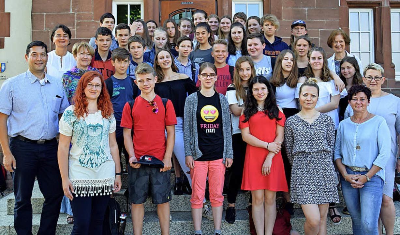 Schüler aus Denzlingens Partnerstadt Konstancin   | Foto: Helena Kiefer