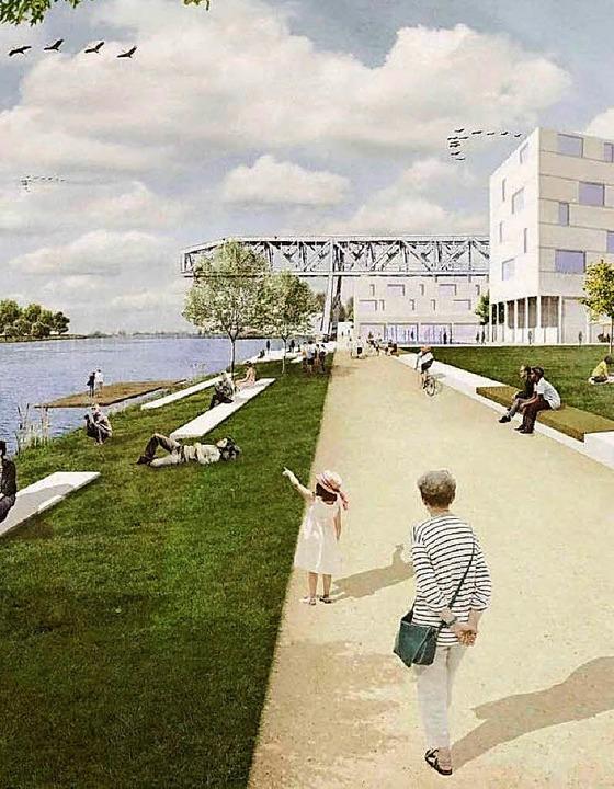 Weil am Rhein setzt zunächst auf die Erweiterung des Rheinparks  | Foto: IBA Basel