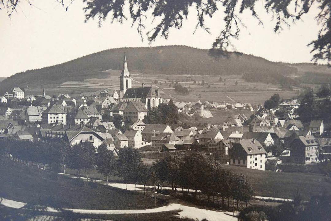 So sah Neustadt um das Jahr 1910 aus, ...genannte Fehrn noch nicht bebaut war.