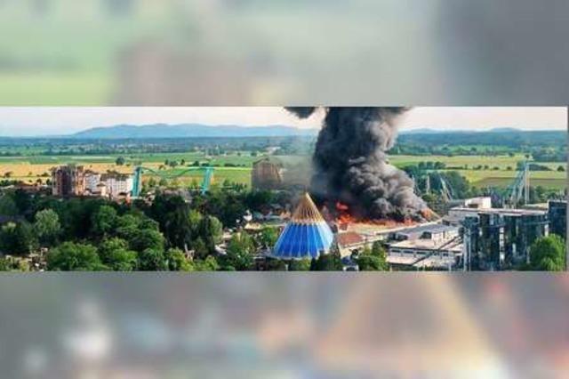 Brand im Europa-Park Rust