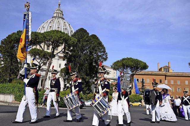 Auf Prozession durch Rom