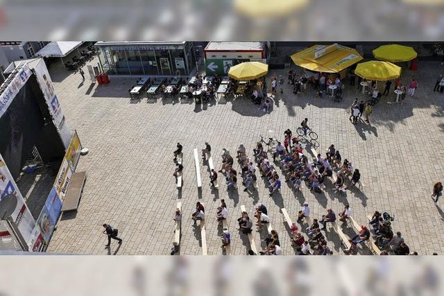 WM-Start auf dem Offenburger Marktplatz