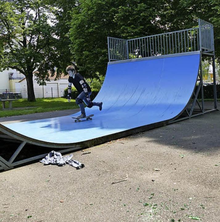 Herz für Skater: Spielplatz Südring  | Foto: Franziska Riepl